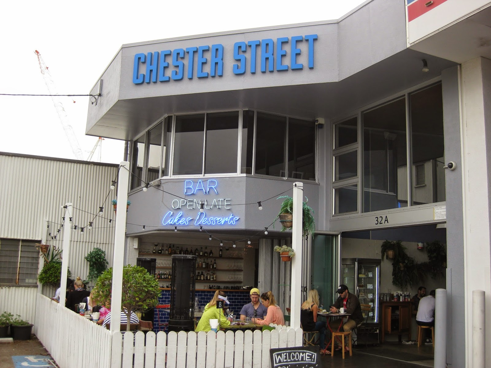 Cassie Cakes Review of Chester Street: Outside the restaurant