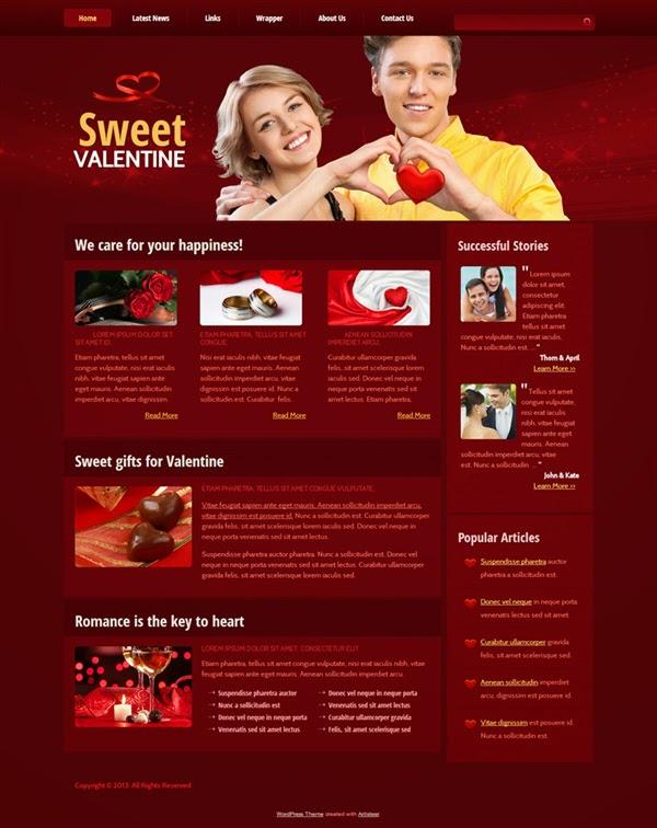 Sweet Valentine - Free Wordpress Theme