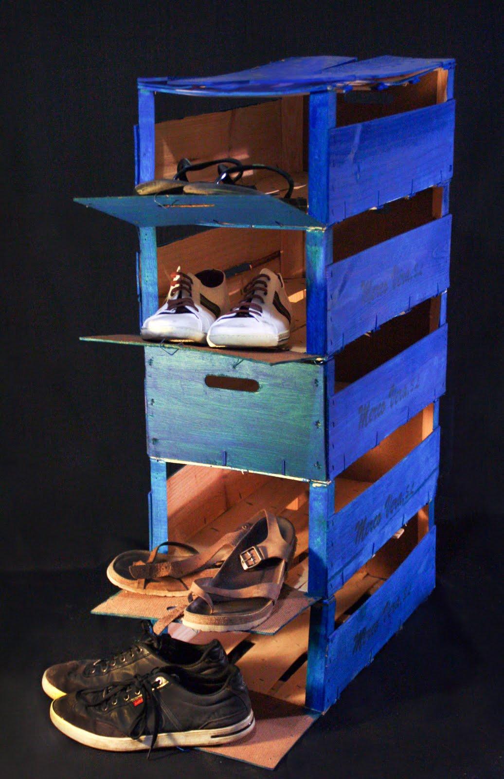 Transe ntes des hechos de mercadillo for Muebles con cajas de fruta
