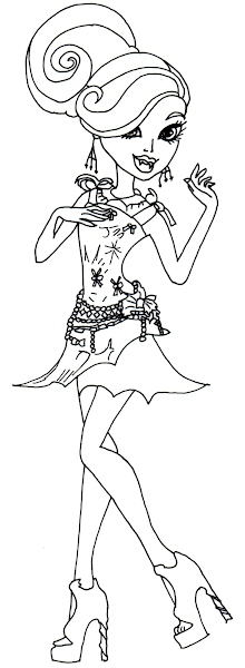 Monster High Frights Camera Action Coloring Pages