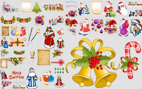 Adornos navideños para crear postales de Navidad