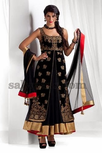 Black Party Wear Pretty Salwar