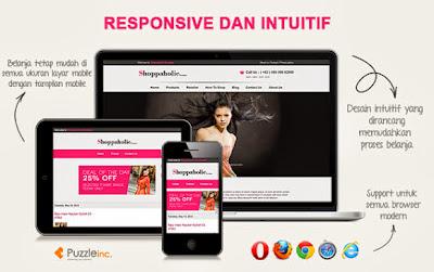 Free Online Store Blogspot Template  - Shoppaholic Boutique