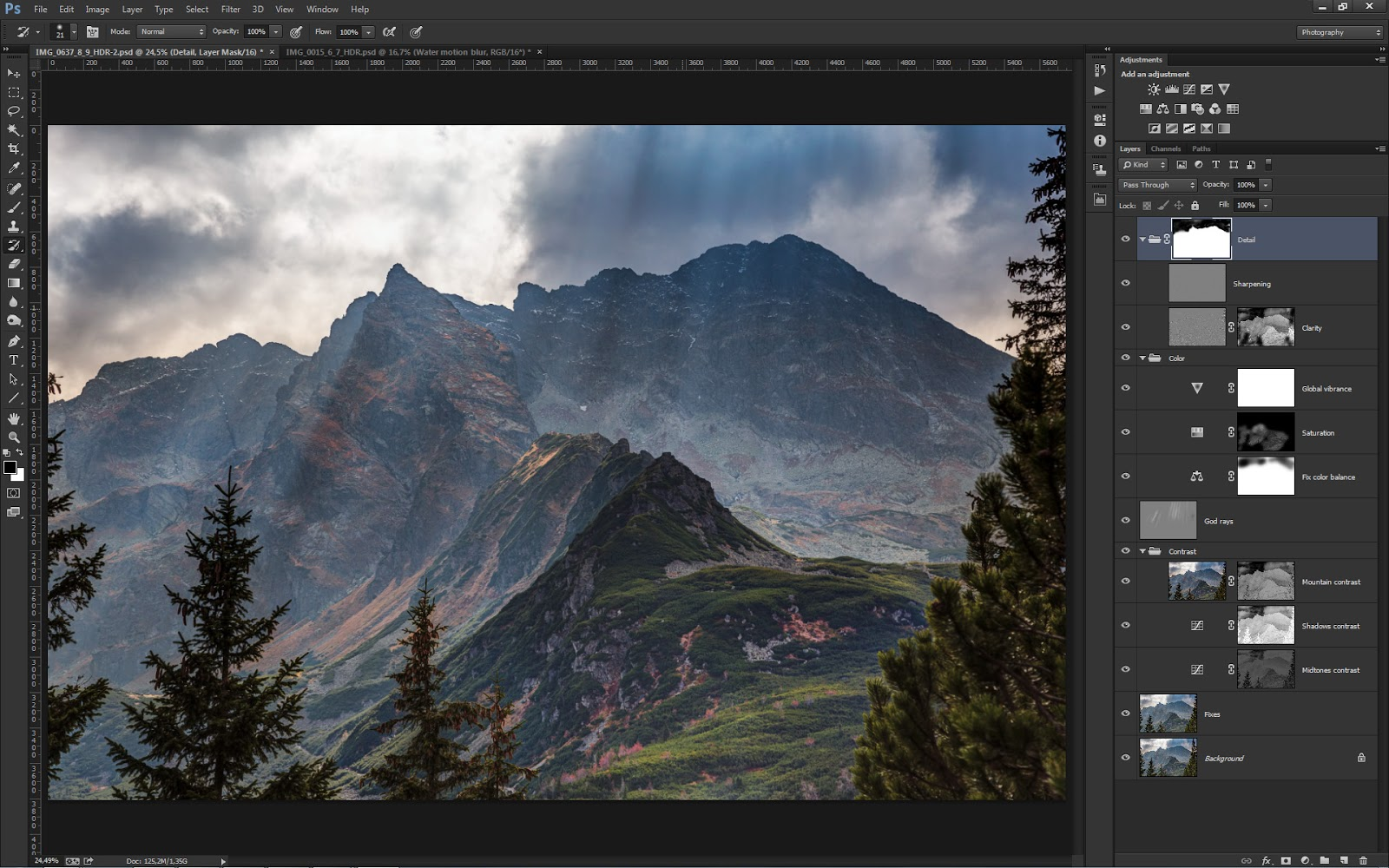 Post-processing in Photoshop