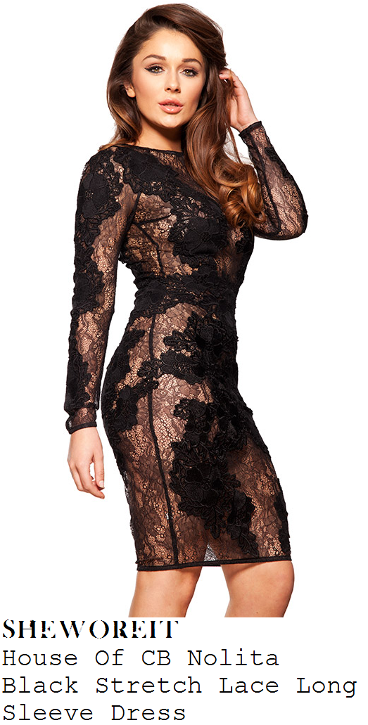 danielle-armstrong-black-floral-lace-long-sleeve-bodycon-dress