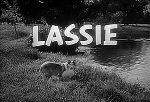 lassie title screen circa 1958