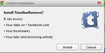 cara nak remove facebook timeline