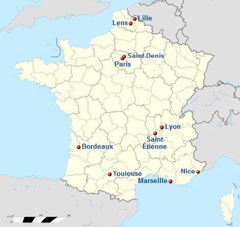 lokasi stadion penyelenggara EURO 2016 Prancis