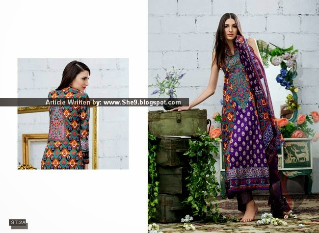Feminine Spring-Summer Embroidered Collection 2015 by Shariq