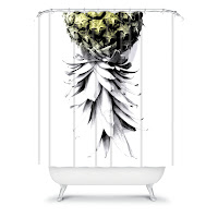 Deb Haugen  Pineapple 1 Shower Curtain