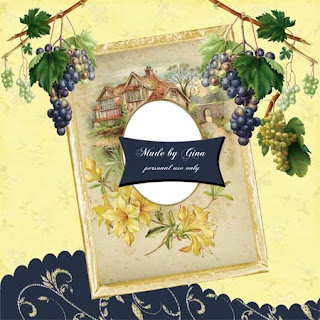 "Free scrapbook vintage QP ""GinaP"" from Miriams scraps"