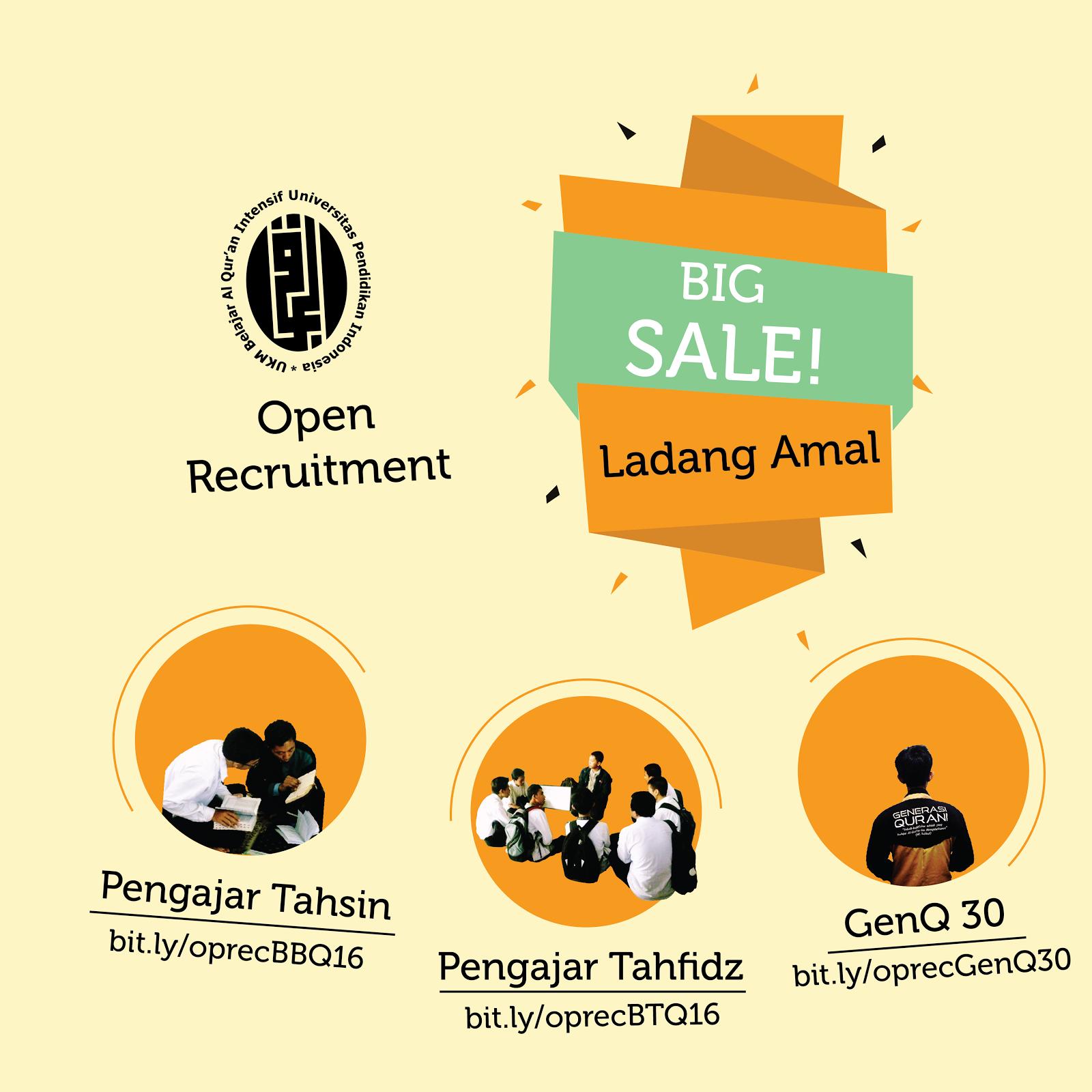 Big Sale! Ladang Amal di UPI