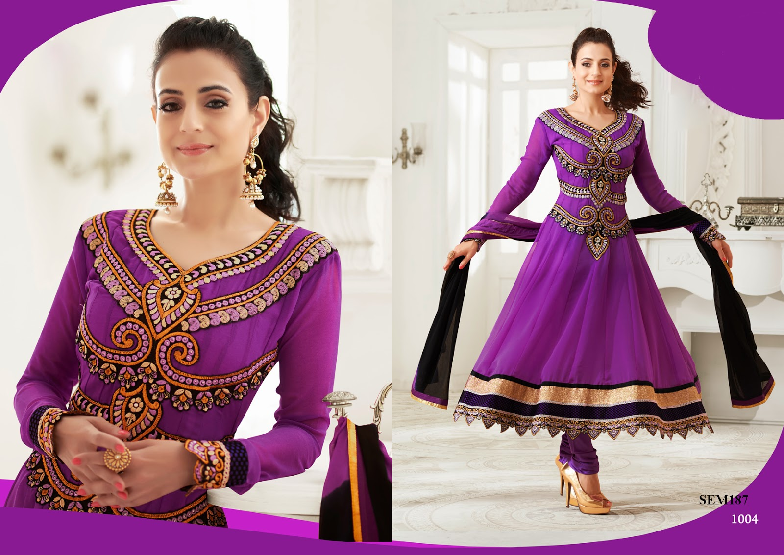 Designer Anarkali Suit OnlineEmbroidered SuitAmisha Patel