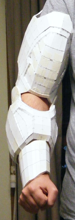 Papercraft Iron Man Suit - Arm Parts (wearable series)