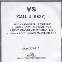 VS - Call U (Sexy) (Promo CDS) (2004)