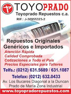 TOYOPRADO REPUESTOS, C.A. en Paginas Amarillas tu guia Comercial
