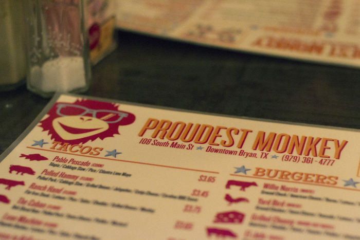 proudest monkey menu
