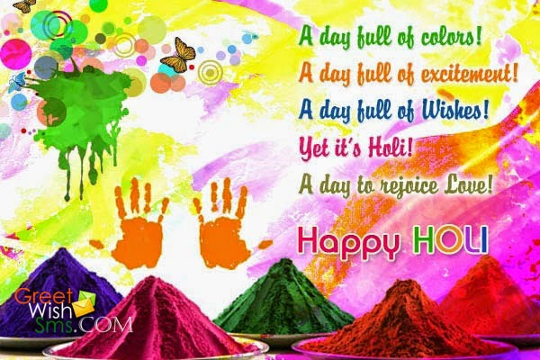 Happy Holi Wishes Greetings for Whatsapp