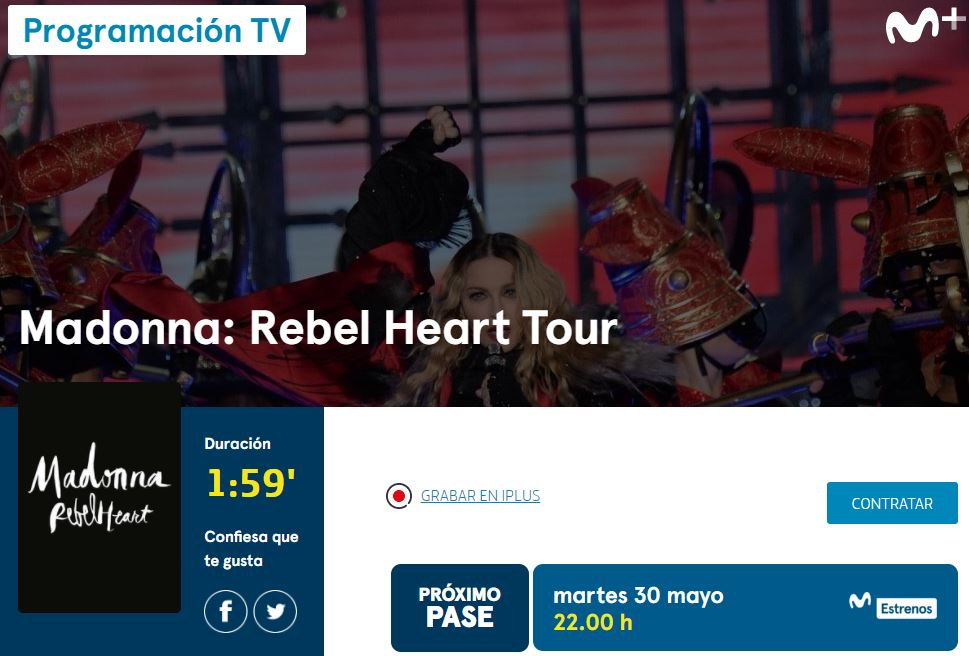 Rebel Heart Tour en movistar+