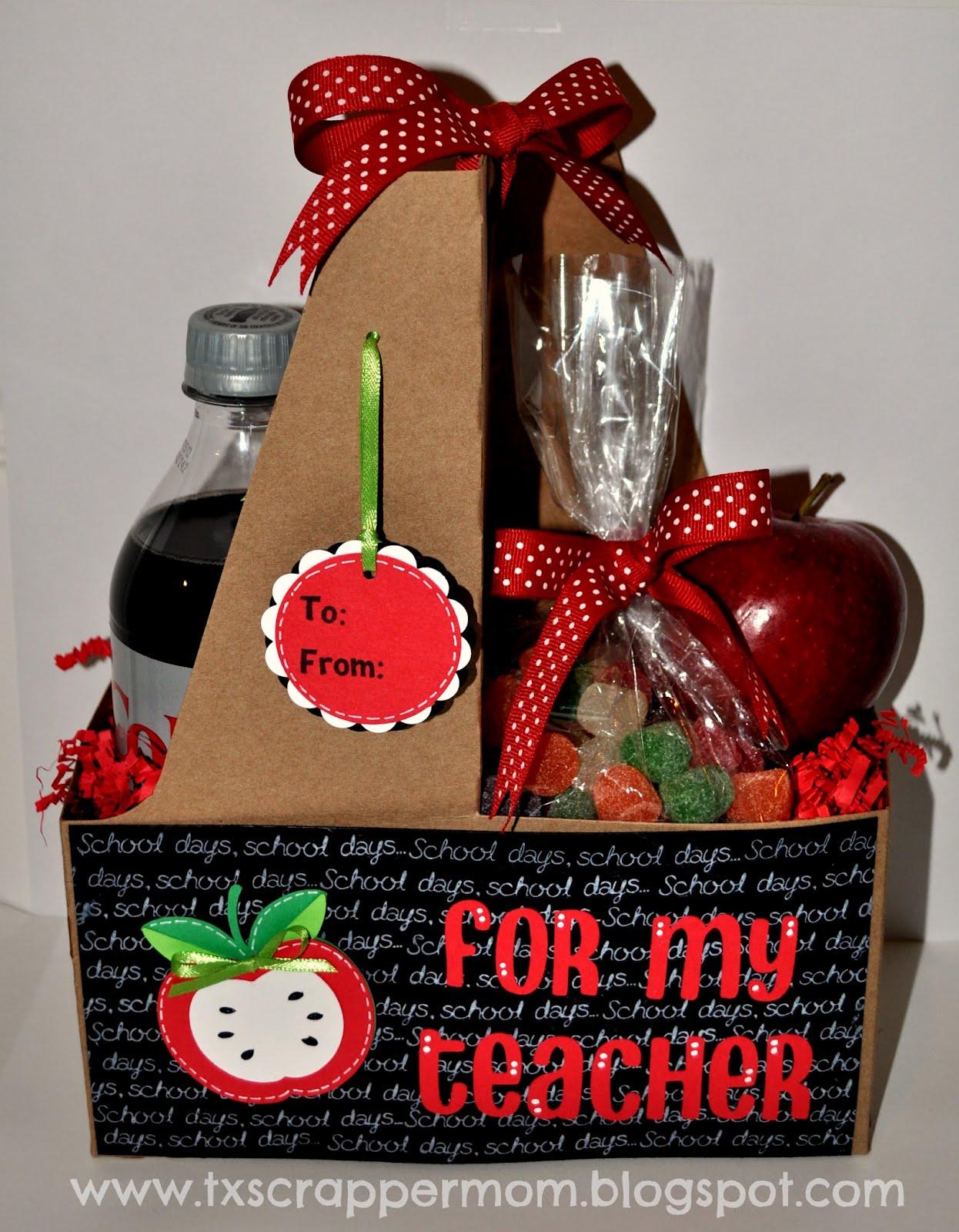 Christmas Gift Baskets For Teachers: Precocious paper teacher treats ...