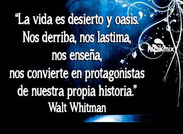 La vida es desierto | Walt Whitman, poesía,