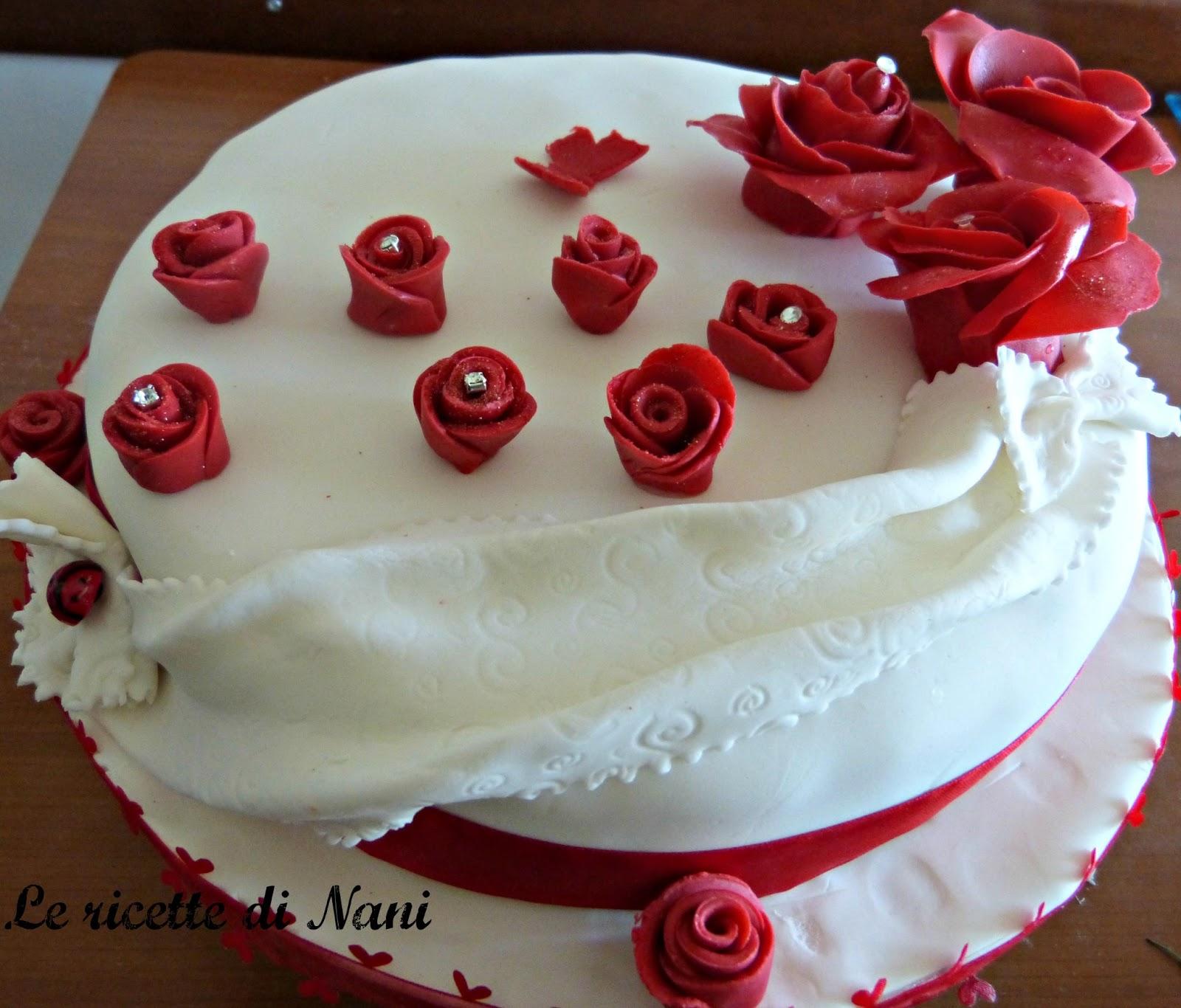 Auguri Matrimonio Ricetta : Le ricette di nani la torta in bianco e rosso per un