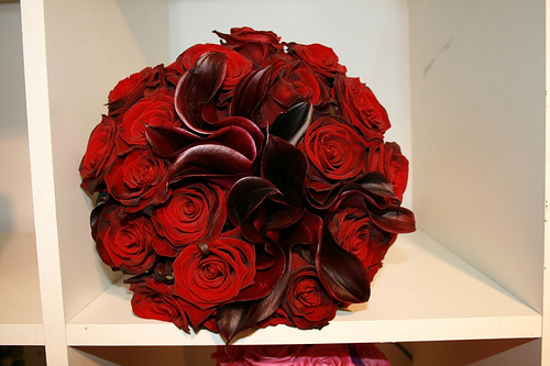 Red Wedding Flowers Bouquet