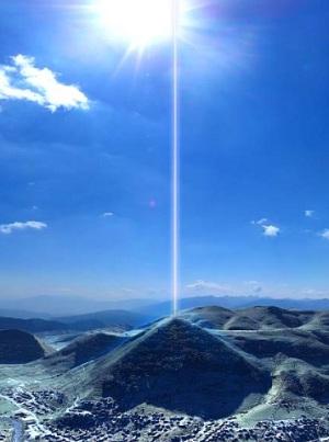 Pirámide de Bosnia, haz de energía