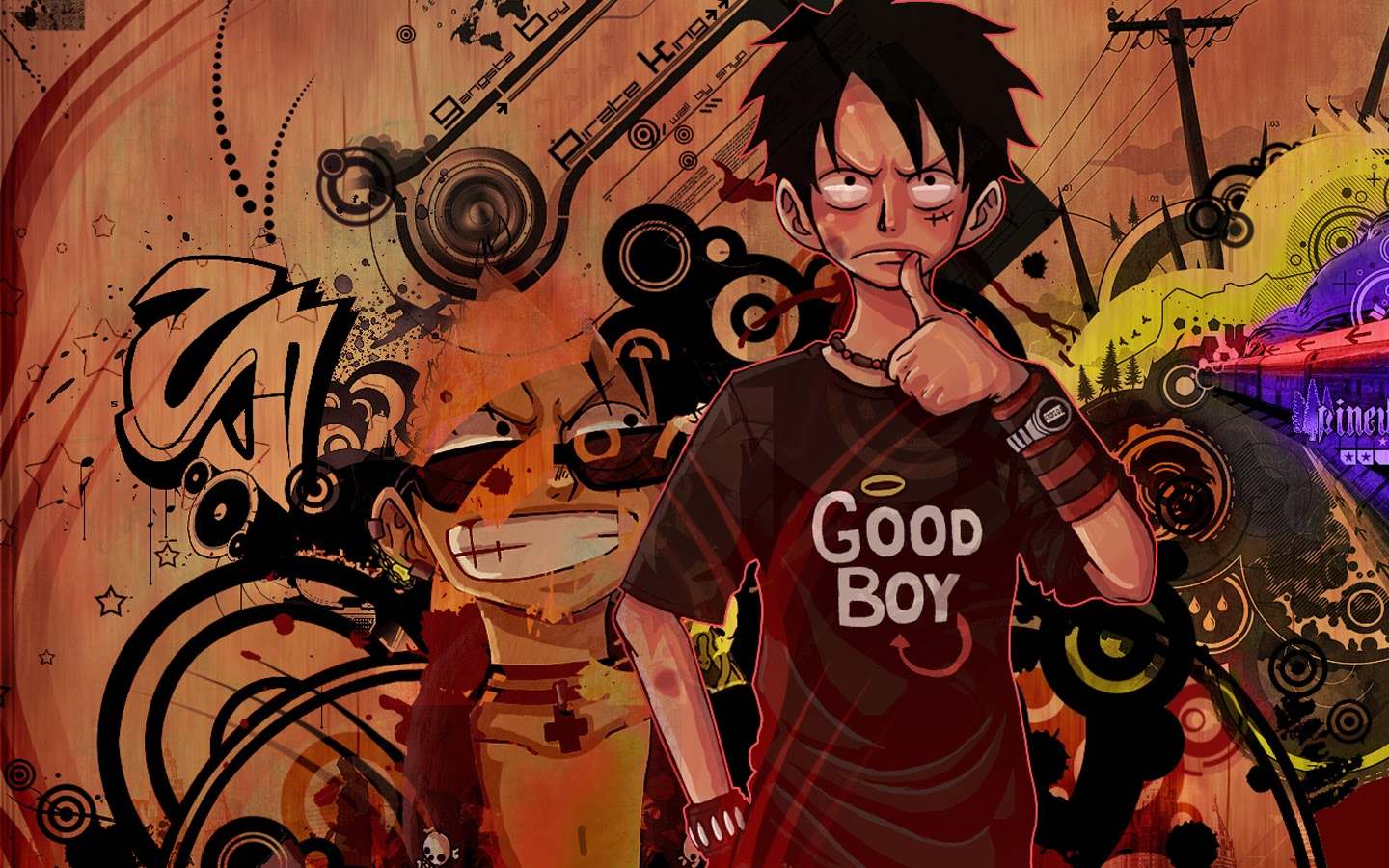 Hd wallpaper one piece - Monkey D Luffy One Piece Anime Hd Wallpaper Image Picture 1440x900