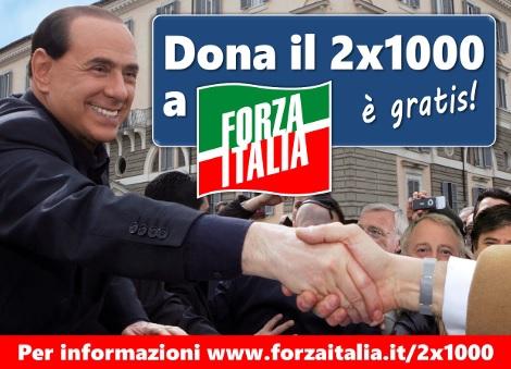DESTINA IL 2 PER MILLE A FORZA ITALIA