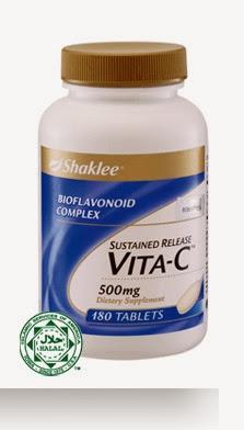 vitamin c dalam set resdung shaklee