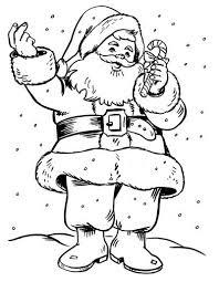 Desenhos para imprimir e pintar do Papai Noel 2014