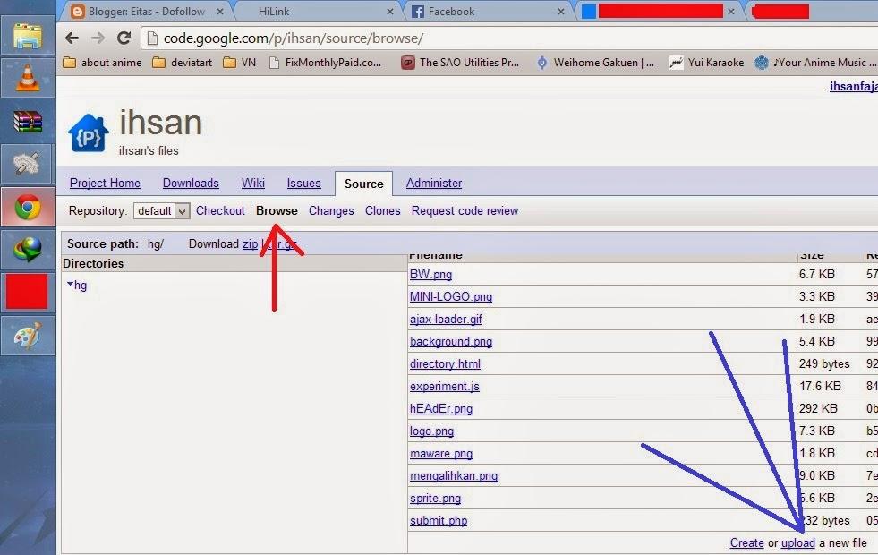 cara upload file ke google code menggunakan browser 1