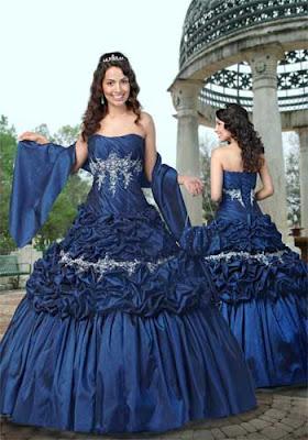 Vestido de 15 años de color Azul