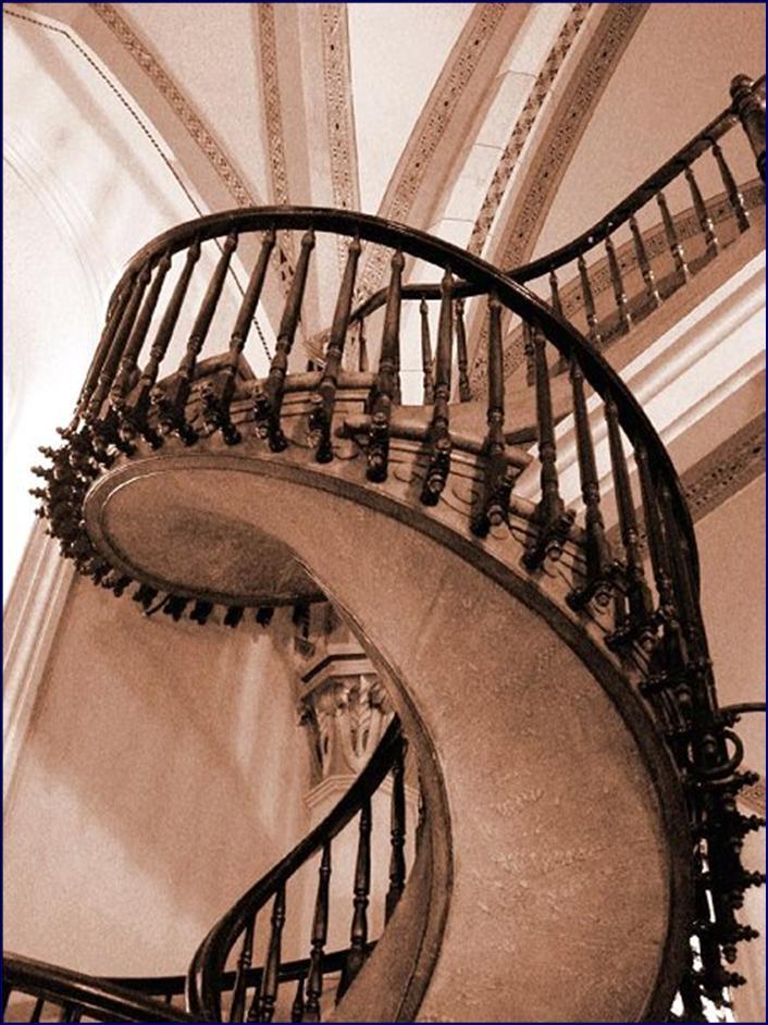 escalier myst rieux de santa fe nouveau mexique usa novembre 2012. Black Bedroom Furniture Sets. Home Design Ideas