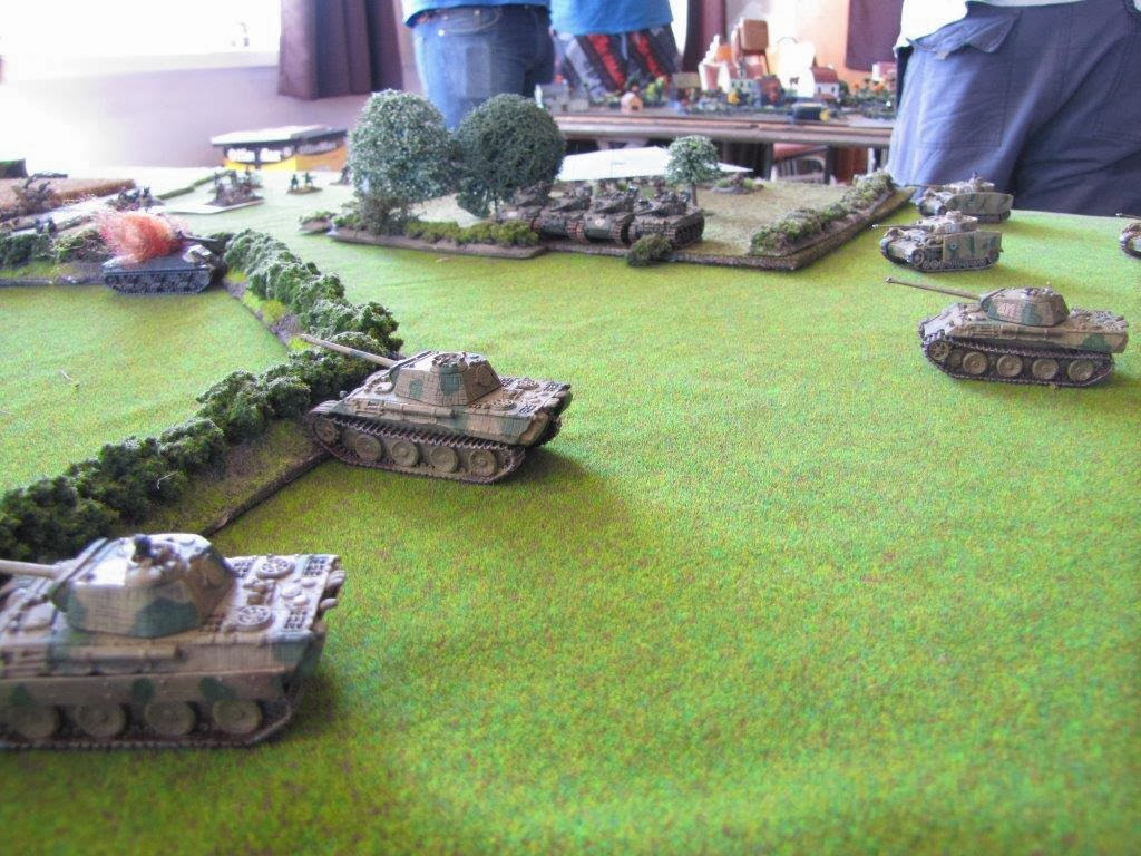 My infantry leave a gap allowing more hellcats to ambush.