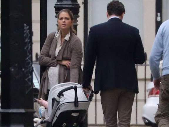 Princess Madeleine, Chris O'Neill and Princess Leonore in London