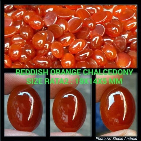 Batu Reddish Orange Chalcedony