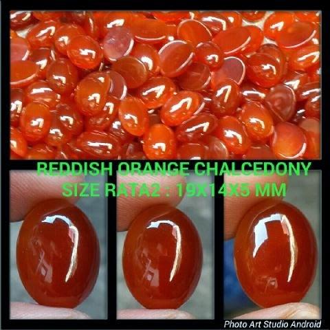 Batu Reddish Orange Chalcedony