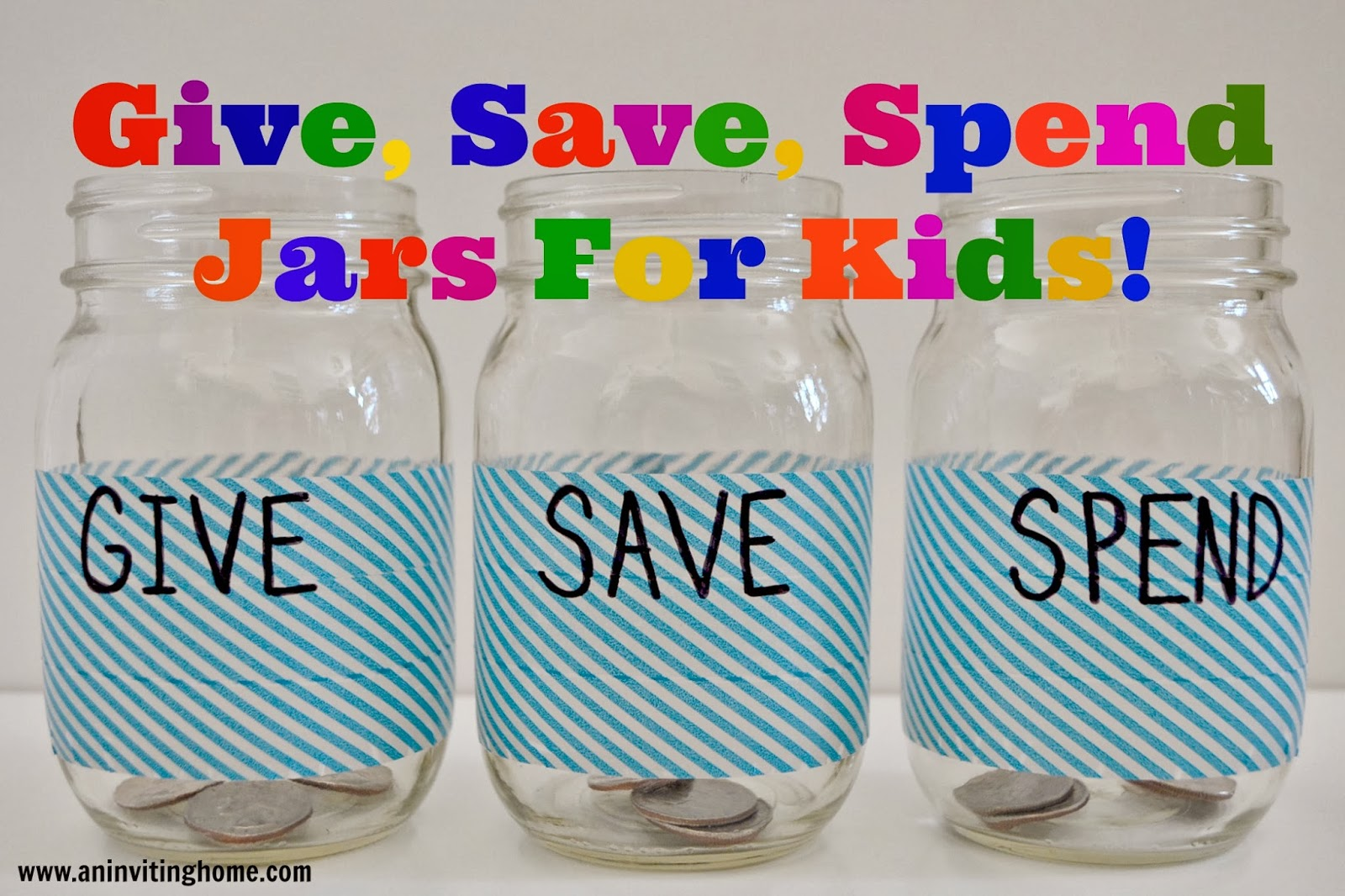 Give, Save, Spend Jars For Kids!
