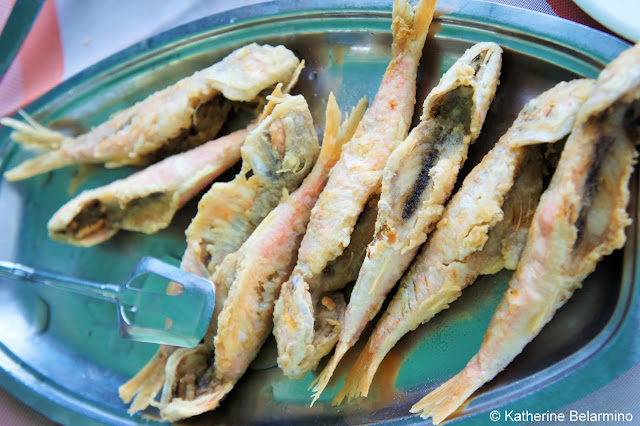 Traditional Greek Foods: Barbounia (μπαρμπούνι) Red Mullet Fish