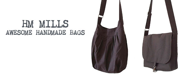 HM Mills Awesome Handmade Bags