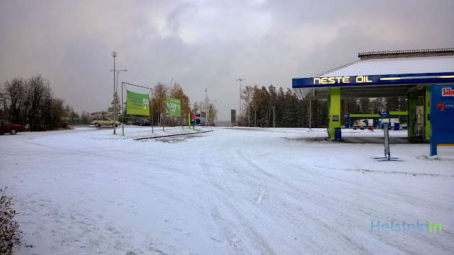 First snow near Lahti