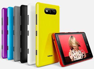 Nokia Lumia 820 Windows 8 Smart Phone with color shells