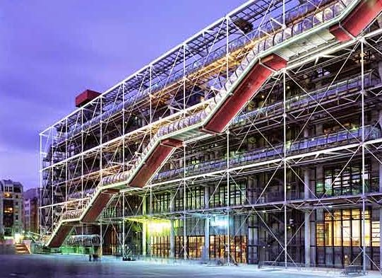 Centro georges pompidou par s 7arquitecto renzo piano for High tech arquitectura