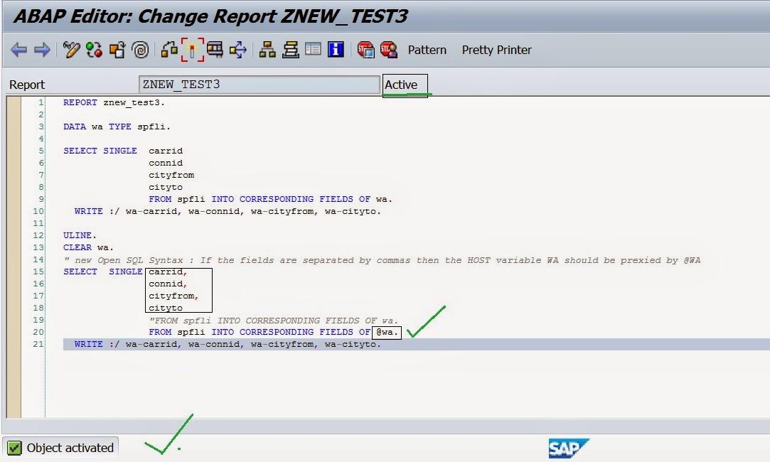 Techsap Use Of Escape Symbol In New Open Sql