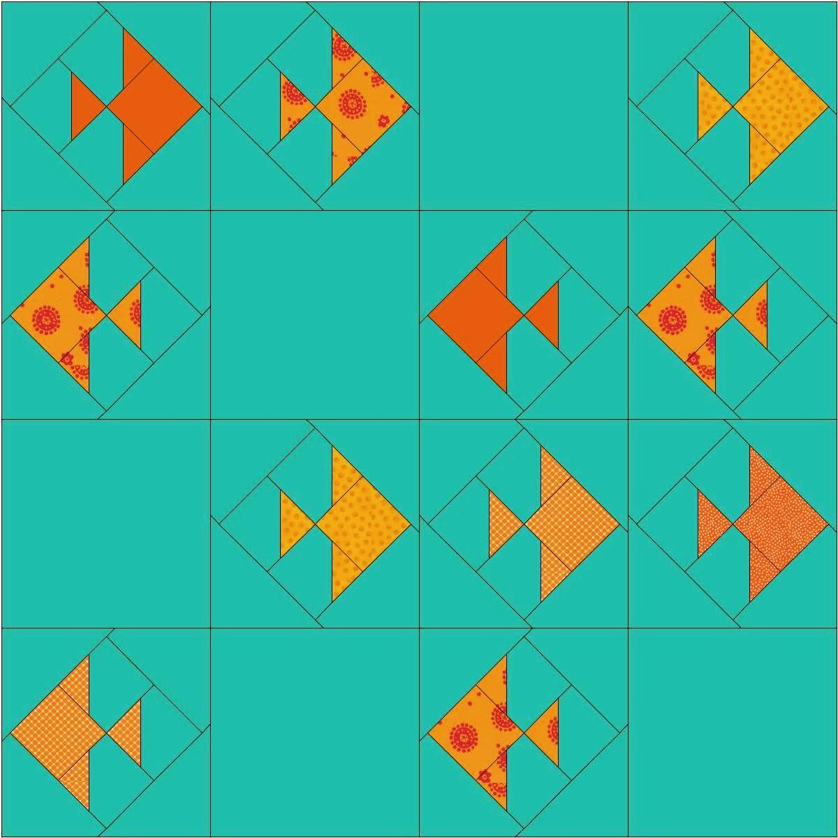 Emerald Coast Modern Quilt Guild: March 2014 Block Lottery - Gold ... : fish quilt block - Adamdwight.com