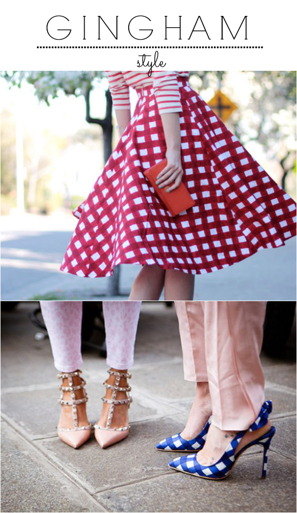 gingham, style blog, gingham shirt, gingham pumps, gingham trend,