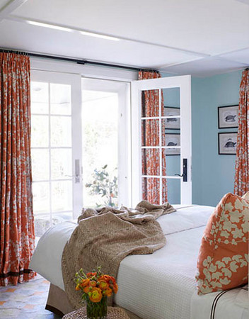 Southgate residential color inspiration blue and orange for Blue and orange room