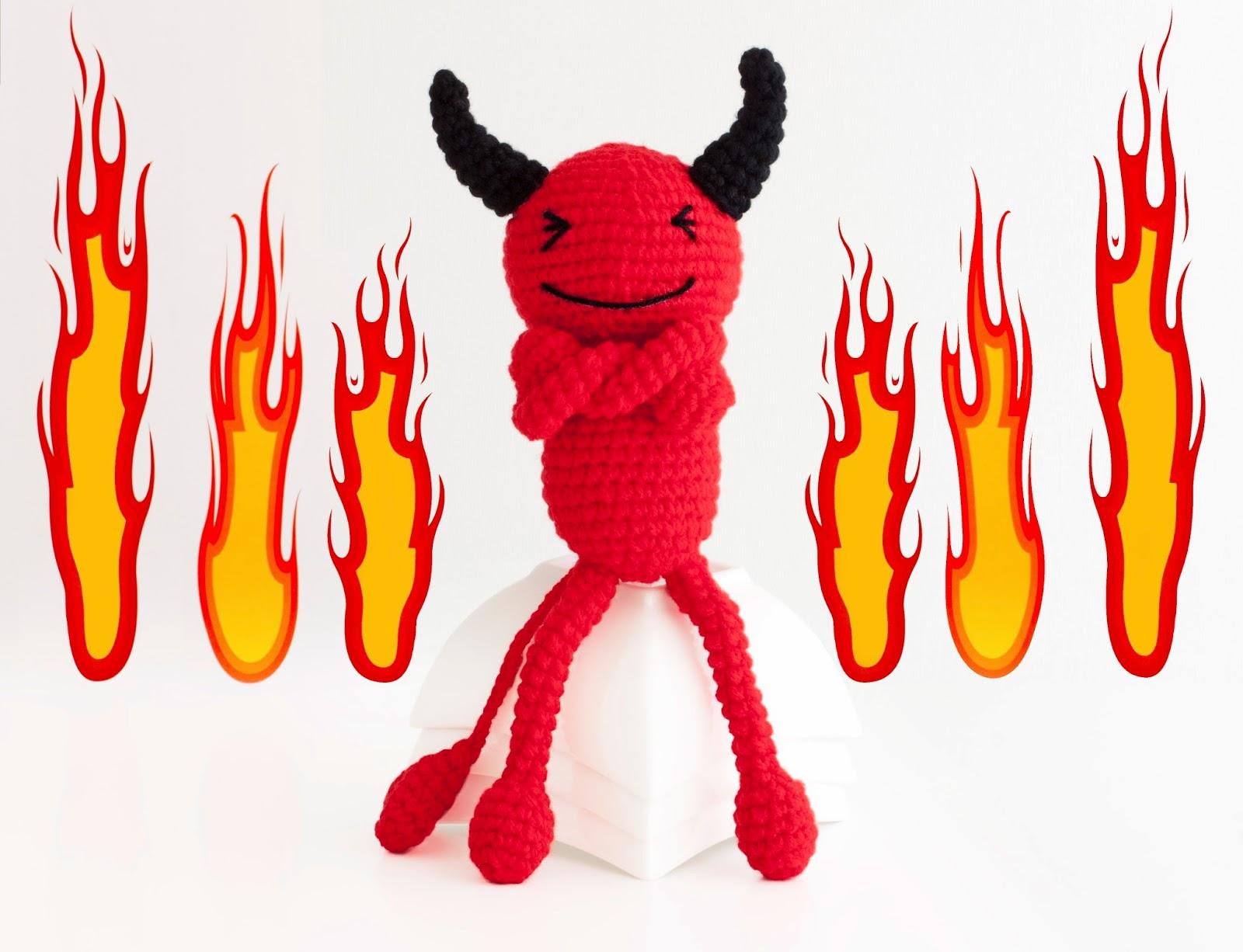 demonio amigurumi devil